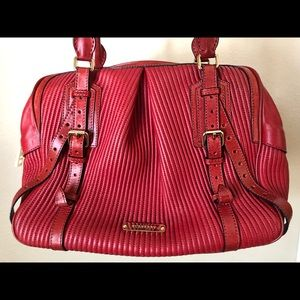 Burberry red and gold purse